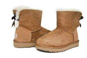 1cfd62cacd3 UGG Australia Women s Mini Bailey Bow Boots II Chestnut Sz 5-11 NEW ...