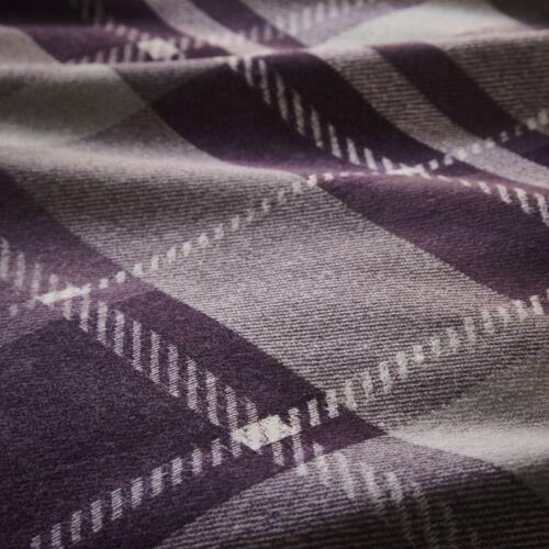 COLVILLE CHECK Tartan Hedgehog Reversible 100/% Brushed Cotton Duvet Cover Set