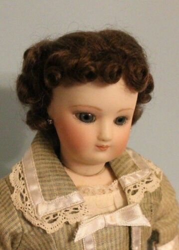 Light Brown French Fashion doll mohair wig Size  7-8