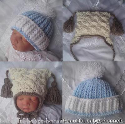 CROCHET PATTERN by Beautiful-Babys-Bonnets for Boys Pom Pom Hats #19