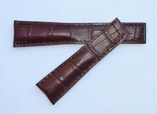 20mm, 20/18mm for TAG Heuer Brown Genuine Leather Alligator-Style Band Strap
