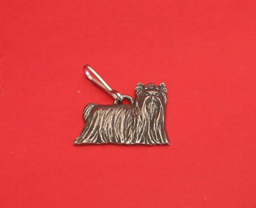 Yorkshire Terrier Dog Collectable Pewter Zipper Pull Vet Pet Dad Mum Yorkie Gift