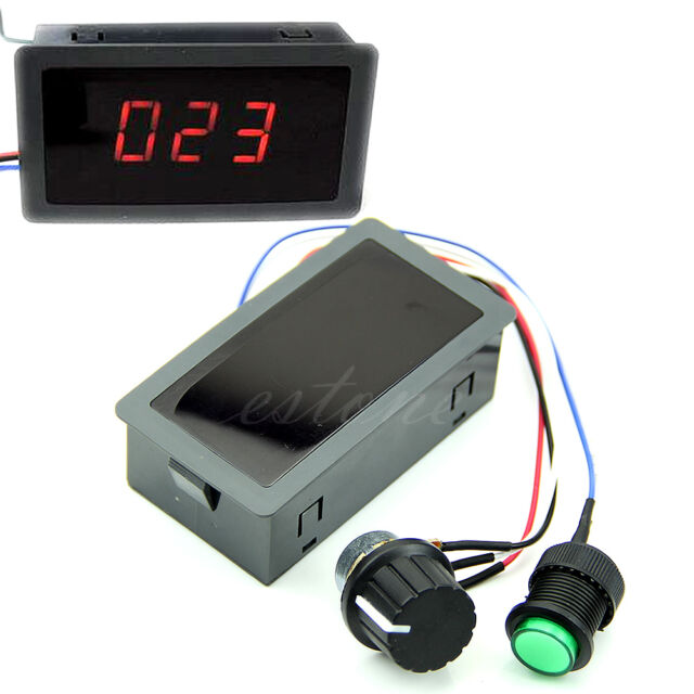 Motor DC 6-30V 12V 24V Max 8A PWM Speed Controller With Display & Switch Digital