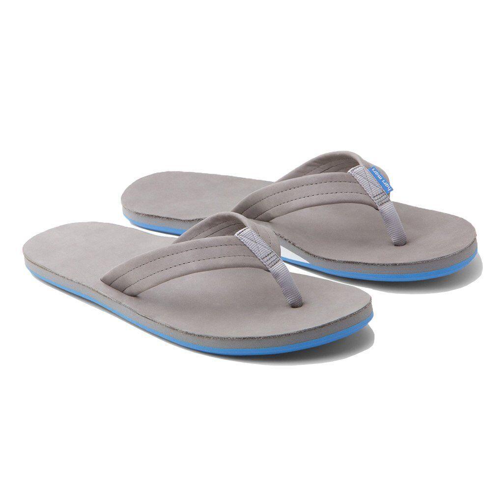 71e7adef2efdc9 NEW HARI MARI MEN S FIELDS flip flops flops flops leather sandals GRAY  WHITE BLUE 9 12 f74b5c