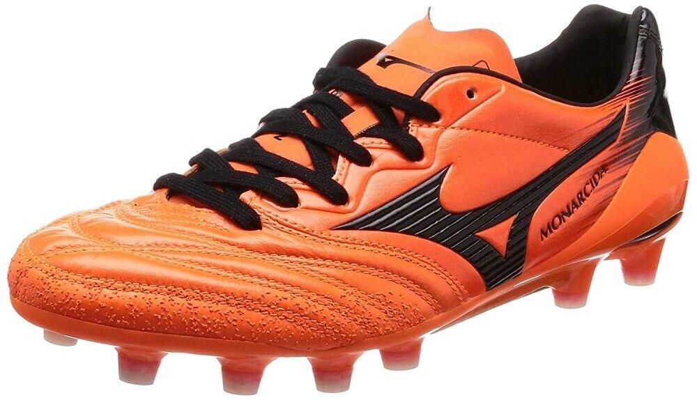 Nuevos Zapatos Mizuno fútbol Spike monarcida 2 Neo Japón P1ga1820 NARANJA EE. UU. 8 26cm