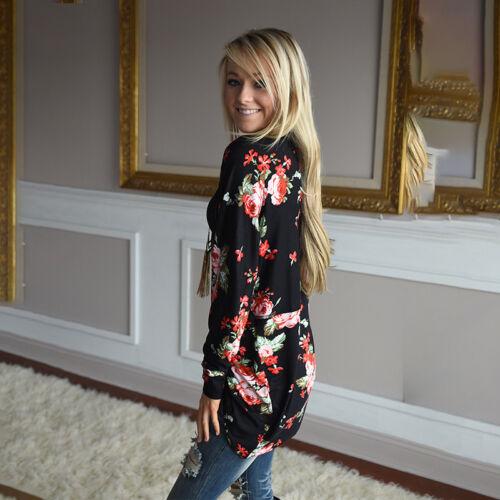 Damen Rose Blumen Cardigan Sommer Jacke Mantel Langarm Longshirt Bluse Übergröße