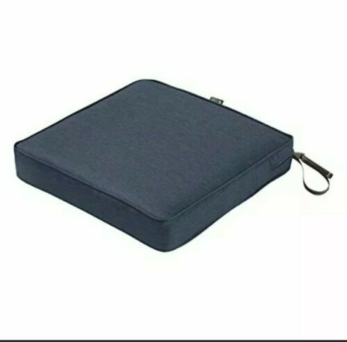 """Classic Accessories Montlake FadeSafe Square Patio Dining Seat Cushion 3/"""" Thic"""