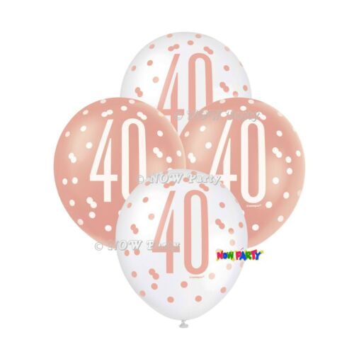 Rose Gold 40th Birthday Party Decorations Girls Ladies Balloons Banners Age 40
