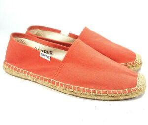 Soludos-Espadrille-Bright-Coral-Orange-Shoes-Size-7