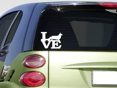 Pembroke Welsh Corgi Love sticker *H370* 6 inch vinyl dog herding sheep