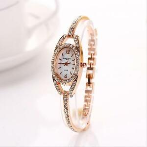 Fashion-Women-039-s-Crystal-Dial-Bracelet-Stainless-Steel-Analog-Quartz-Wrist-Watch