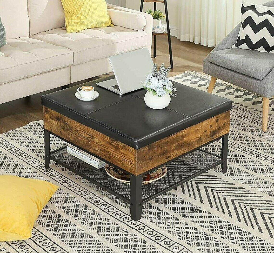 Brooklyn Max Lincoln Faux Leather Coffee Table Storage Ottoman For Sale Online Ebay