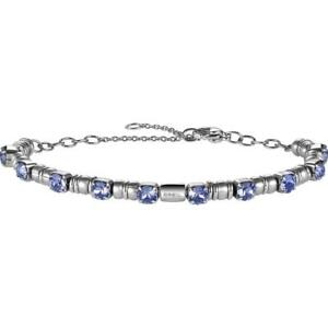 Bracciale-Donna-BREIL-ROLLING-DIAMONDS-TJ1601-Acciaio-Swarovski-Viola-NEW-FIV