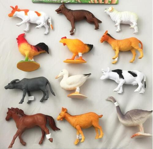 1 pack ASSORTED PLAY 6 INCH RUBBER FARM ANIMALS toy plastic pvc  play animal