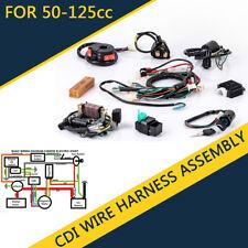 50 70 90 110 125cc mini atv complete wiring harness cdi stator rh ebay com
