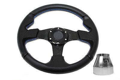 Silver Hub Polaris RZR 800//900//1000 Can-Am X3 Steering Wheel Kit Carbon Flat BK