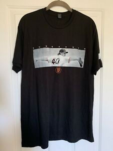 SF San Francisco Giants BUMGARNER black t-shirt size SMALL NEW