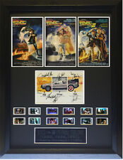 Cast Signed  Framed Back to the Future Trilogy Film Cell Display