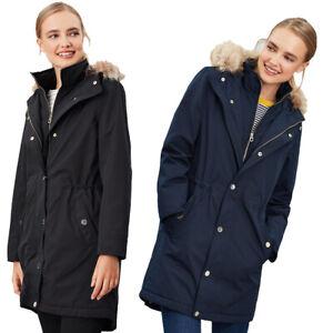 Joules-Womens-Kempton-Hooded-Drop-Tail-Parka-Coat-Jacket