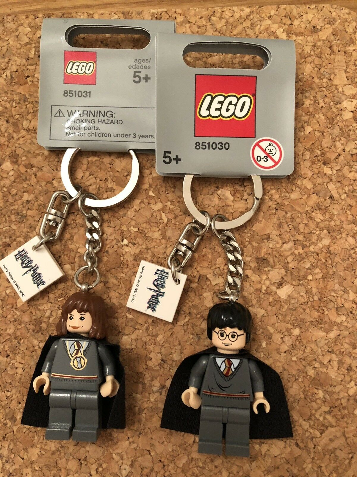 Lego Harry Potter Hermione Granger Pair Keying GREY TAG 851030 851031 RARE NWT