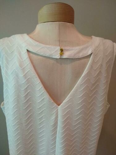 JL JULES /& LEOPOLD WHITE TEXTURED SLEEVELESS DRESSY TOP sizes 2X 3X NEW $65