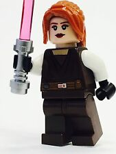 LEGO STAR WARS JEDI CUSTOM MINFIG FEMALE ORANGE HAIR 100% NEW LEGO PARTS KNIGHT