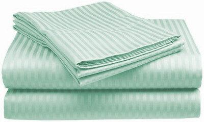 1000TC Egyptian Cotton 1pc FLAT SHEET Sateen Solid Mint Green