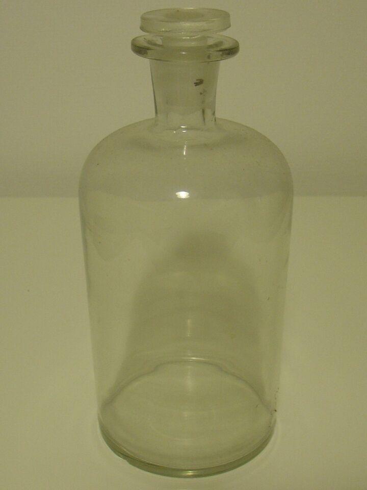 Glas, Snapse/ Medicin Flaske, DK