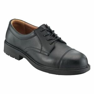 PSF Executive S75SM Mens Safety Black Leather Work Brogue Shoes Steel Toe Cap