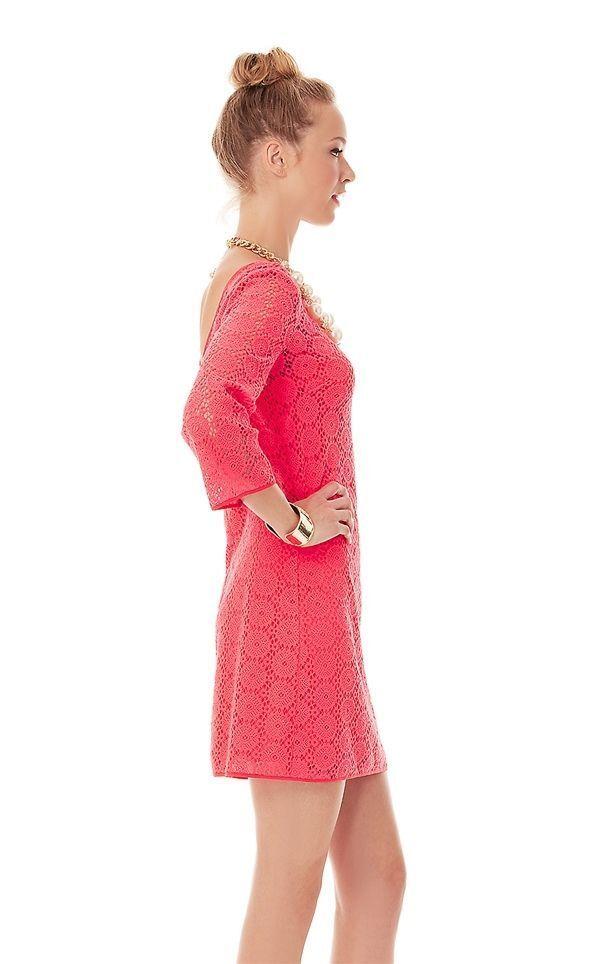 NWT LILLY PULITZER TOPANGA DRESS DRESS DRESS ISLAND CORAL BREAKERS LACE XS,S,M,L,XL 2388ab