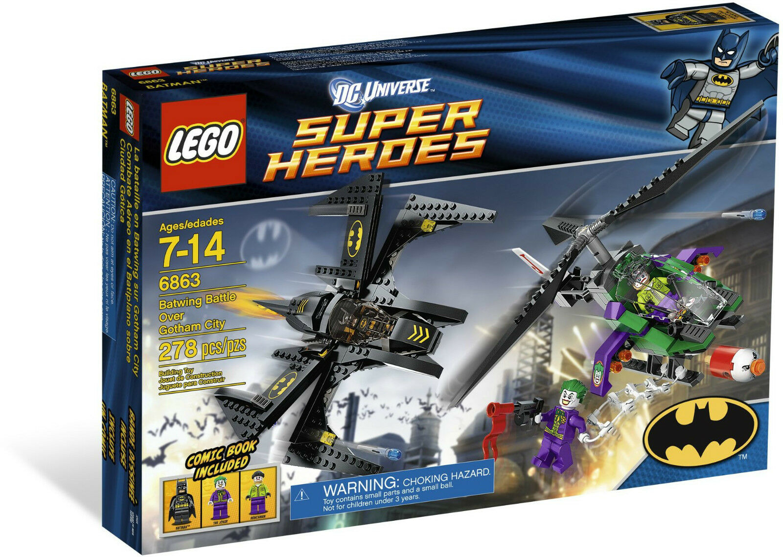 BNIB LEGO Super Heroes 6863: Batwing Battle Over Gotham City RetiROT Batman Set