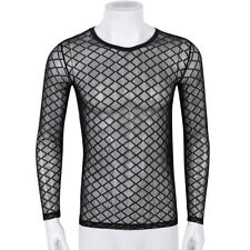 66418a27 item 5 Mens Mesh See-Through Long Sleeve Breathable T-Shirt Tee Top Muscle  Casual Club -Mens Mesh See-Through Long Sleeve Breathable T-Shirt Tee Top  Muscle ...