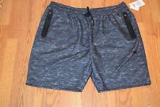 Men's PONY Knit Shorts Size XXL Athletic 2 Zip Pockets Charcoal