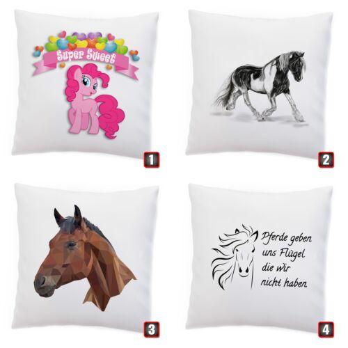 Cushion /'Horse/' Pony Horses Horse Farm Slogan Cuddly Pillow Horse Motif decokissen