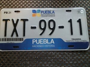 USA Nummernschild Mexico Puebla  2011-2014