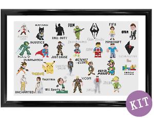 A-Z-Of-Video-Games-Cross-Stitch-Kit