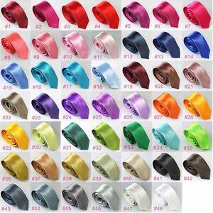Mince-fine-cravate-Business-slim-tie-cravate-etroite-geant-selecteur-de-couleurs-NEUF