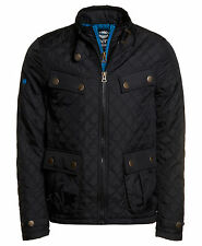 New Mens Superdry Unique Sample Apex Quilt Jacket Size Medium Black
