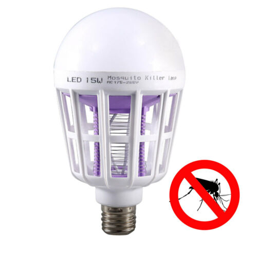 E27 LED Bulb 15W Repellent Fly Bug Insect Killer Trap Night Lamp
