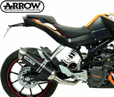 SILENCIEUX ARROW THUNDER DARK LINE KTM DUKE 125/200 2011/16 - 51010MI+51510AON