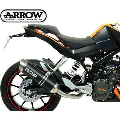 SILENCIEUX ARROW THUNDER DARK LINE KTM DUKE 125/200 2011/16 51010MI+51510AON
