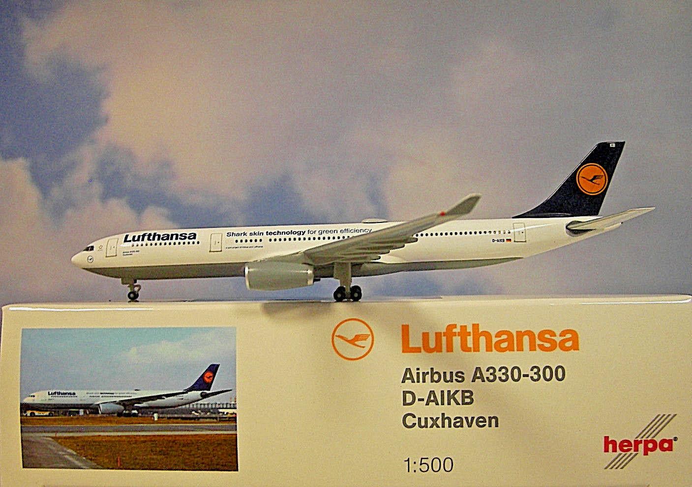 Herpa Wings 1 500 Airbus A330-300 Lufthansa Lufthansa Lufthansa D-Aikb 514965-003 Modellairport500 82e8f6