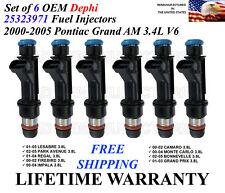 Set of 6 Herko Fuel Injector IGM07 For Buick Chevrolet Pontiac 3.8L-V6 2000-2005