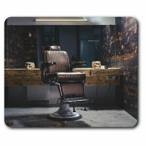 Computer-Mouse-Mat-Vintage-Barbers-Chair-Men-039-s-Barber-Office-Gift-16171