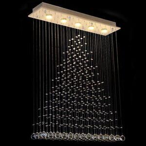 Modern crystal glass rain drop triangle ceiling light chandelier image is loading modern crystal glass rain drop triangle ceiling light aloadofball Choice Image