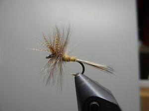 Quill Gordon size 16 dry flies 1 Dozen 12