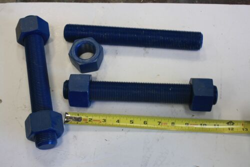 """3 Pc/'s Blue Teflon coated Flange Studs 1 1//2/"""" X 11/""""  with nuts ITB7 Flange Bolts"""