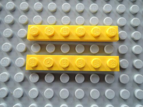 LEGO 10 x flache Platte Bauplatte 3666 gelb 1x6