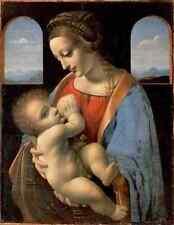 Metal Sign Leonardo Da Vinci Madonna Litta A4 12x8 Aluminium