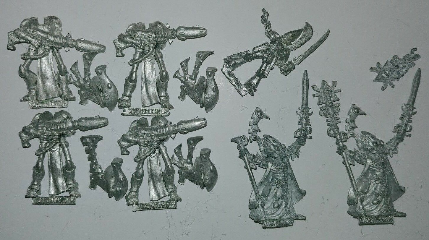 Huge Multi-listing Warhammer 40k Eldar Wraithguards Ulthran Metal models OOP
